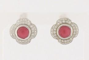 Сребърни обеци с циркони SO0026