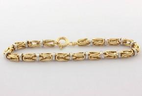 Златна  гривна от бяло и жълто златo GR0162