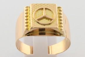 Мъжки пръстен от жълто злато MD0071