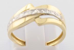 Дамски пръстен от бяло и жълто злато DD0117