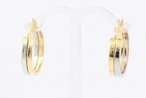 Златни обеци от бяло и жълто злато OB0158