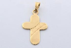 Златен кръст от  жълто злато VK0046