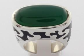 Сребърен пръстен с халцедон и емайл Flli Menegatti CSD0037