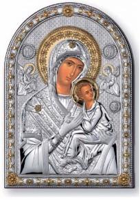 21240 Овал Св.Богородица 5X7 см с позлата