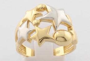 Дамски пръстен от бяло и жълто злато DD0130
