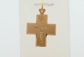 Златен кръст от жълто злато VKN0075