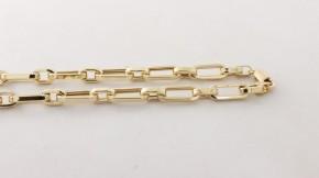 Златен мъжки синджир от жълто злато 14 карата - дължина 55 см.