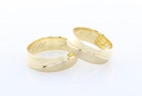 Брачни халки от жълто злато BH0235