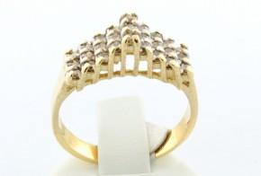 Златен пръстен от жълто злато с диамант D102