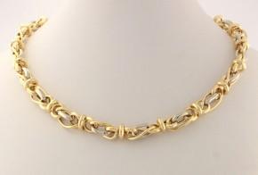 Златен синджир от бяло и жълто злато C0141