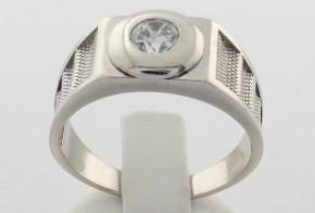 Мъжки пръстен от бяло злато MD0043