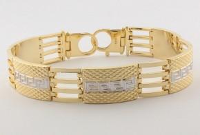 Златна гривна от бяло и жълто златo GR0136