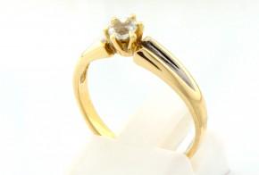 Годежен пръстен от бяло и жълто злато със сапфир D2057
