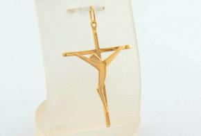 Златен кръст от жълто злато VKN0055