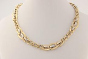 Златен синджир от бяло и жълто злато C0151
