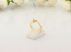 Годежен пръстен от жълто злато с диамант D2066