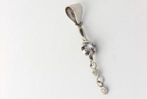 Висулка от бяло злато с аквамарин и диаманти VE680