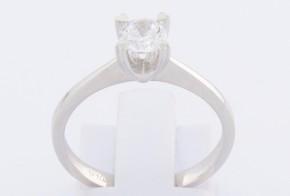 Годежен пръстен от бяло злато с циркон GD0119
