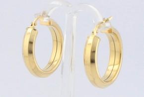 Златни обеци халки от жълто злато OB0139
