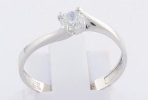 Годежен пръстен от бяло злато с циркон GD0144