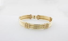 Златна гривна от  жълто злато GR0041 - дължина 23 см., ширина 12 мм VC