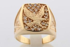 Мъжки пръстен от жълто злато MD0027