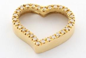 Висулка от жълто злато с диаманти VE870