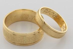 Брачни халки от  жълто злато BH0118