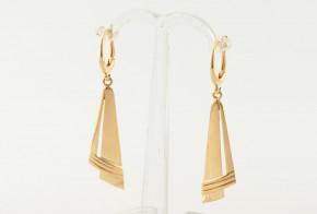 Златни обеци от жълто злато  OB0186V