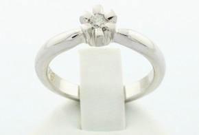 Годежен пръстен от бяло злато с диамант D1076