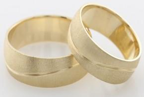 Брачни халки от  жълто злато BH0152