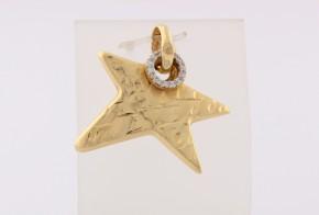 Златна висулка от жълто злато с циркон V0153