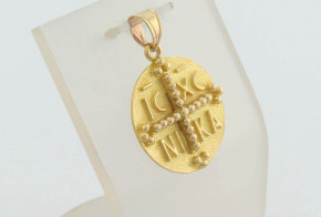 Златна висулка от жълто злато VN0041