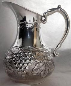 Сребърна кана за вода,вино и др. напитки 925 проба сребро