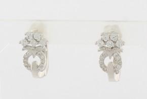Сребърни обеци с циркони SO0108