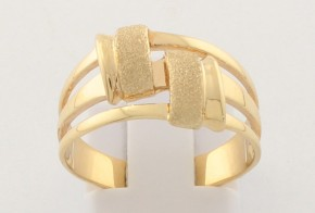 Дамски пръстен от жълто злато DD0176