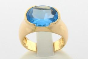 Дамски пръстен от жълто злато с циркон  DD0031