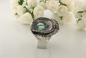 Дамски сребърен пръстен с турмалин SD27