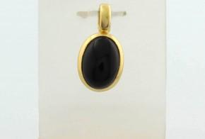 Златна висулка от жълто злато с оникс VN0014