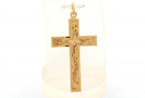 Златен кръст от жълто злато VKN0070
