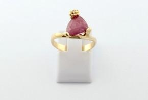 Годежен пръстен от жълто  злато с диамант D3076