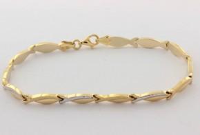Златна  гривна от бяло и жълто златo GR0164