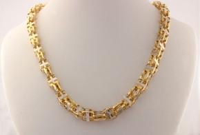 Златен синджир от бяло и жълто злато C0146