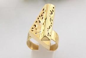 Дамски пръстен от жълто злато (пиано)  DD0092