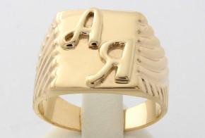 Мъжки пръстен от жълто злато MD0051