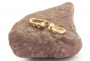 Златни обеци от жълто злато с циркони OB0185V