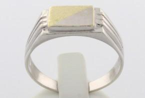 Мъжки пръстен от бяло и  жълто злато MD0032