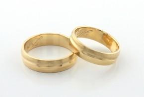 Брачни халки от  жълто злато BH0238