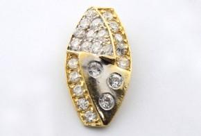 Златна висулка от   жълто злато  с циркони  V0013