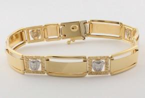 Златна гривна от бяло и жълто златo тип Версаче GR0135